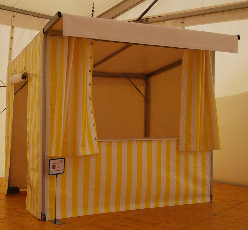 zelt shop verkaufsstand gelb wei online kaufen. Black Bedroom Furniture Sets. Home Design Ideas